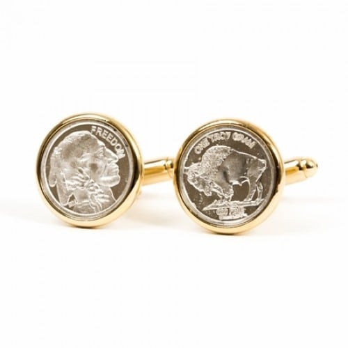 Genuine Silver Bullion Coin Cufflinks Coin Collector Memorbilla