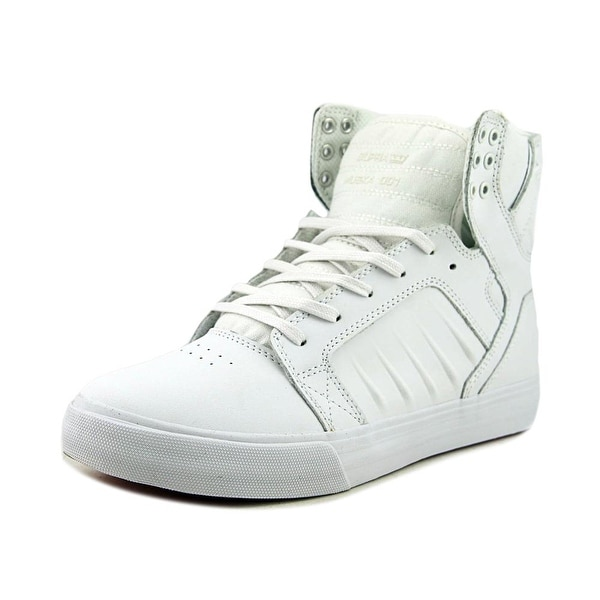 Supra Skytop Evo Men Round Toe Leather White Skate Shoe