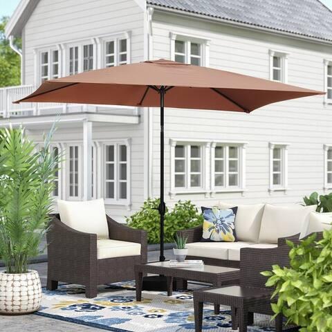 Zenova 10ft x 6.5ft Rectangle Patio Umbrella Waterproof and Sun Shade Outdoor Umbrella