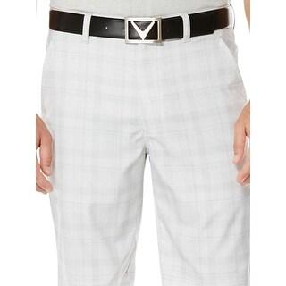 Callaway Mens Shorts Plaid Flat Front