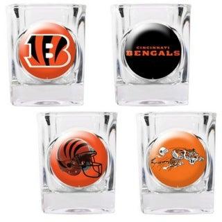Great American Products Cincinnati Bengals Shot Glass Set 4pc Collectors Shot Glass Set