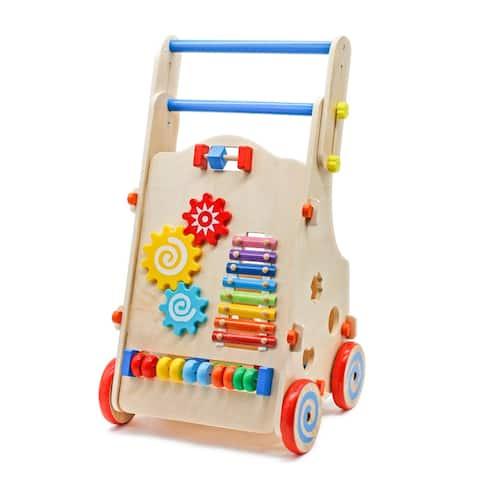 "17.9"" Wooden Baby Walker Toddler Toys"