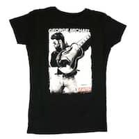 George Michael Faith Photo Juniors Tee - Large - Black