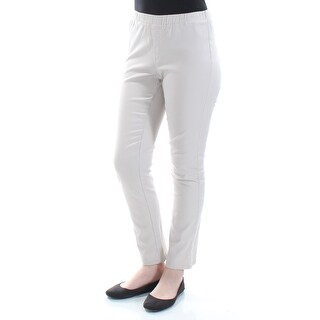 Womens Beige Casual Cropped Pants Size M