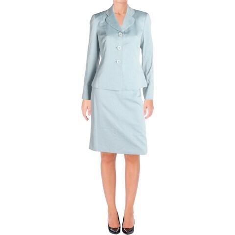 Le Suit Womens Skirt Suit Pattern Long Sleeves