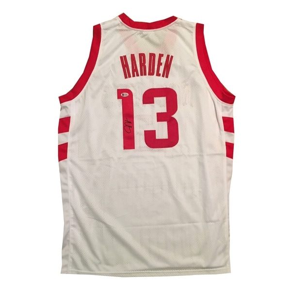 82aa30e174e Shop James Harden Autographed Houston Rockets Signed Basketball Jersey  Beckett COA - Free Shipping Today - Overstock - 22175286
