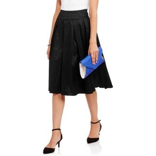 JADA Collections Woman's Taffeta Pleated Skirt, Black
