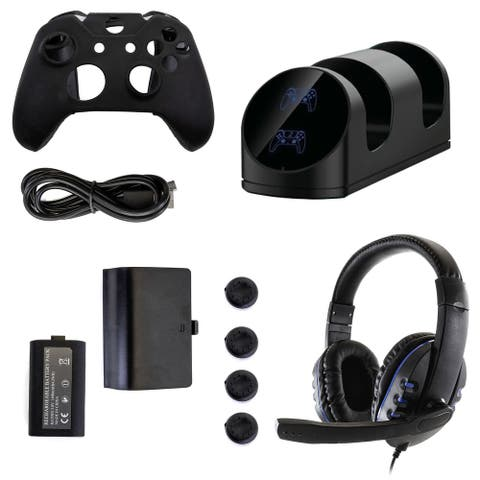 GameFitz 10 in 1 Accessories Kit for the Xbox Series S&X - Black