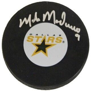 Mike Modano Signed Dallas Stars Logo Hockey Puck