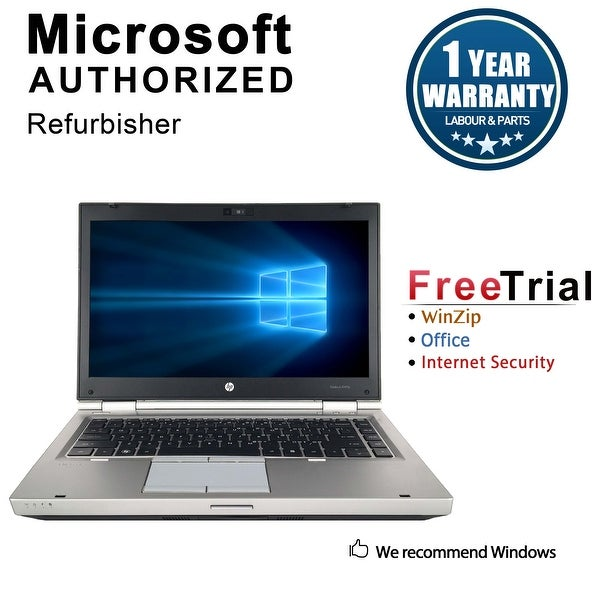 "Refurbished HP EliteBook 8460P 14"" Laptop Intel Core i5-2520M 2.5G 16G DDR3 512G SSD DVDRW Win 10 Pro 1 Year Warranty - Silver"