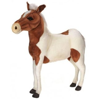 """Link to 41.5"""" Lifelike Handcrafted Extra Soft Plush Brown and White Pony Horse Ride-On Stuffed Animal - Multi  Similar Items in Stuffed Toys"""