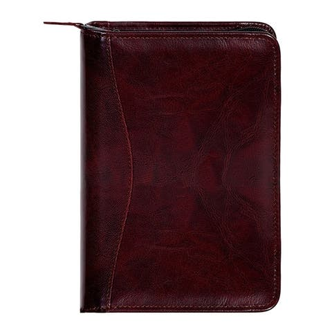 Scully Western Planner Italian Leather Weekly Zip Closure - One Size