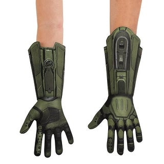 Halo Master Chief Deluxe Costume Gloves Adult One Size - Green