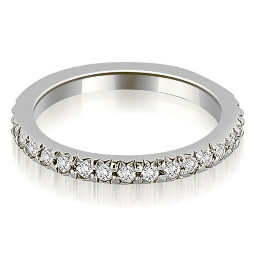2mm Patite 0.40 ct.tw 14K White Gold Stackable Round Cut Diamond Eternity Ring