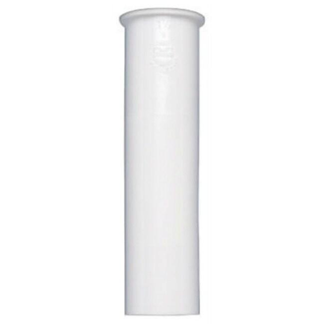 Keeney 10-6WK Plastic Sink Tail Piece, White, 1-1/2 x 6