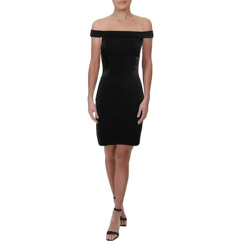Halston Heritage Womens Mini Dress Convertible Sheath - Black - 6