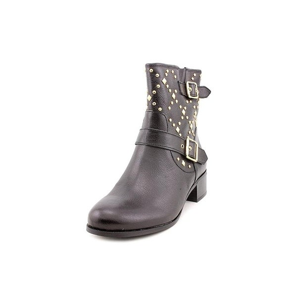 INC International Concepts Womens Wenda Leather Almond Toe Ankle Cowboy Boots