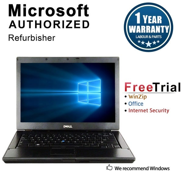 "Refurbished Dell Latitude E6410 14.1"" Laptop Intel Core i5 520M 2.4G 4G DDR3 500G DVD Win 10 Pro 1 Year Warranty - Silver"