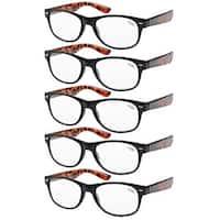 Eyekepper 5-pack Spring Hinges 80's Reading Glasses +2.00