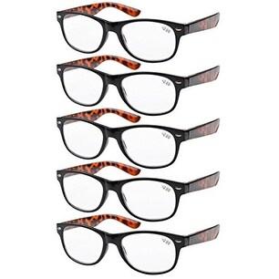 Eyekepper 5-pack Spring Hinges 80's Reading Glasses +3.00