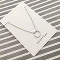 Honeycat Small Open Circle Charm Necklace (Delicate Jewelry) - Thumbnail 9