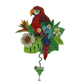 Allen Designs Polly Parrot Pendulum Wall Clock - 13.75 X 9 X 1.75 inches