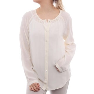 L.K. Bennett Long Sleeve Scoop Neck Blouse Women Regular Blouse