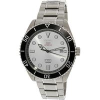 Seiko Men's  Silver Stainless-Steel Automatic Fashion Watch