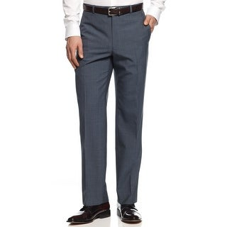 Alfani Red Label Slim Fit Mid Blue Flat Front Dress Pants 30W x 32L