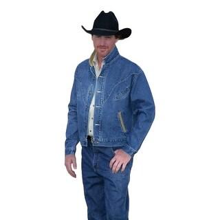 Schaefer Western Jacket Mens Classic Vintage Denim Chisholm Indigo