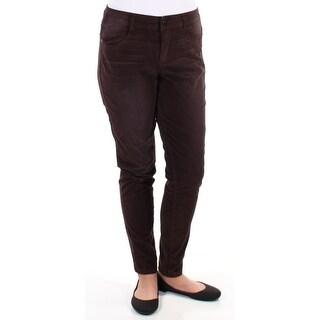 AMERICAN RAG $45 Womens New 1037 Brown Corduroy Casual Pants 13 B+B