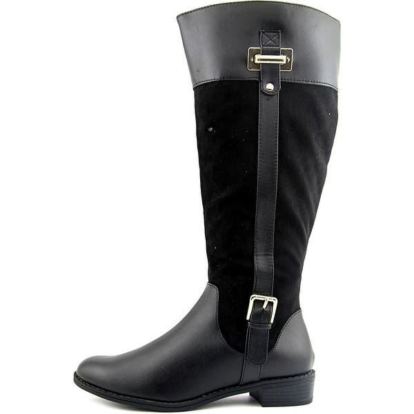 883f417d144 Shop Karen Scott Deliee Wide Calf Women Round Toe Synthetic Black ...