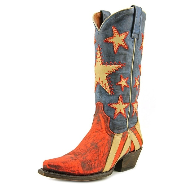 Redneck Riviera Ol' Dixie Pointed Toe Leather Western Boot