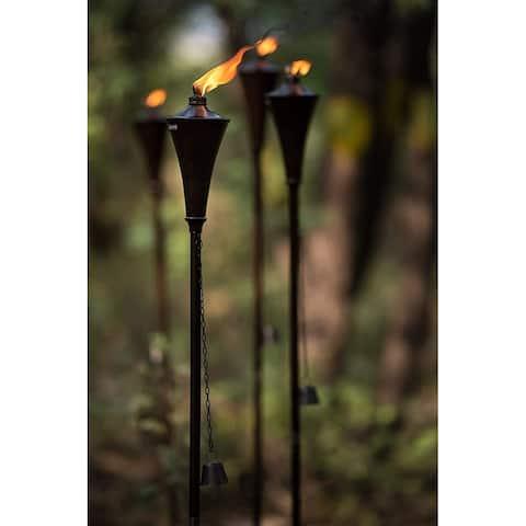 Deco Window Set of 4 Citronella Garden/Outdoor Metal Torch- Brown