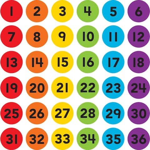Numbers 1-36 Carpet Markers Spot On
