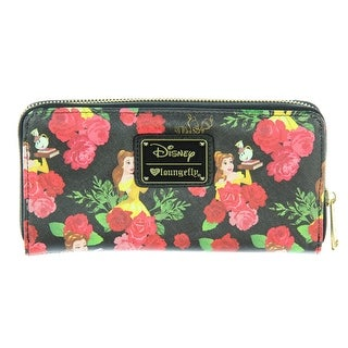 Loungefly Disney Beauty And The Beast Belle Floral Zip Around Wallet - One Size Fits most
