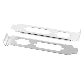 Unique BargainsDB25 LPT Parallel Dual Port Long Profile PCI Bracket Plate Half Size 2 PCS