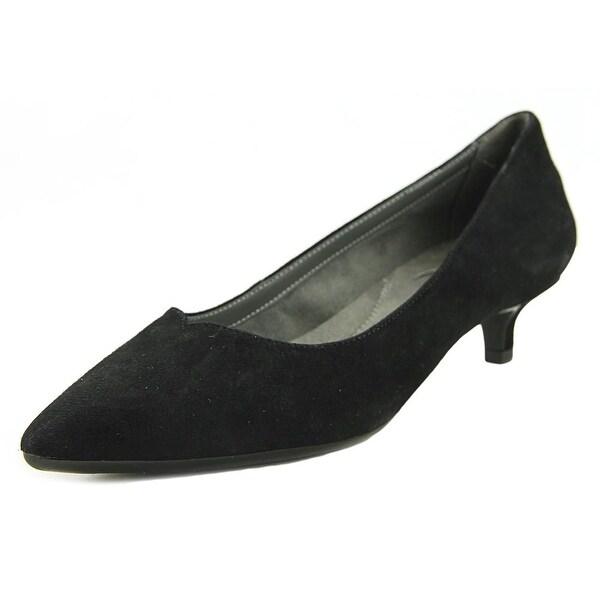 Aerosoles Dress Code Women Pointed Toe Suede Black Heels