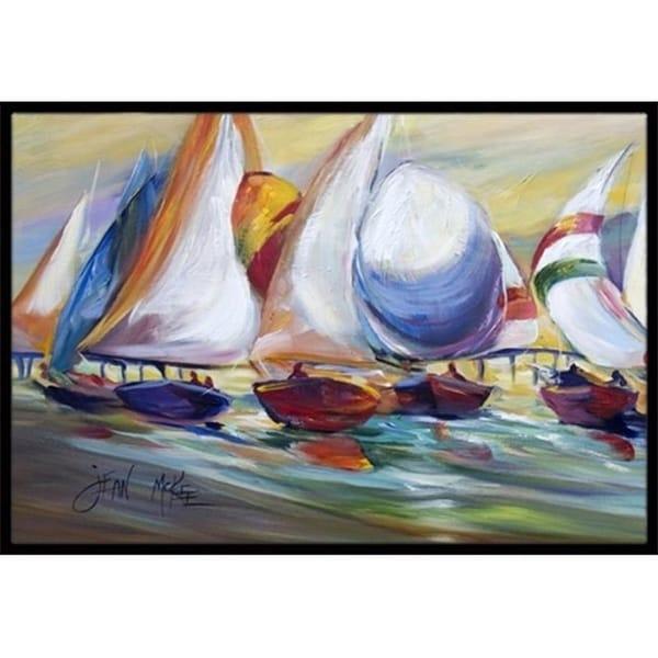 Carolines Treasures JMK1040JMAT Sailboat Race In Dauphin Island Indoor & Outdoor Mat 24 x 36 in.