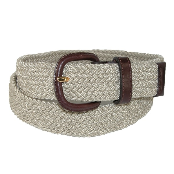 Aquarius Men's Elastic Stretch Belt with Covered Buckle (Big & Tall Available)