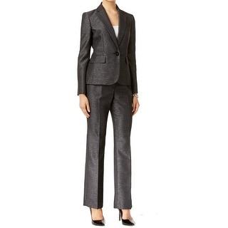 Le Suit NEW Black Womens Size 18 Single Button Shimmer Pant Suit