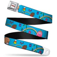Adventure Time Logo White Full Color Princess Bubblegum W Candy People Seatbelt Belt