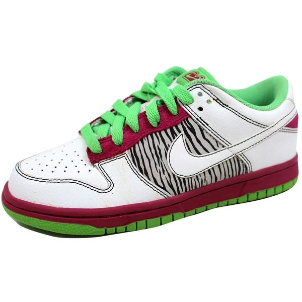 online retailer 79ad3 621ca Nike Womenx27s Dunk Low 6.0 Rave PinkWhite-Mean Green