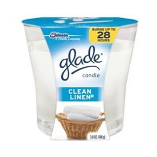 Glade 75380 3.8 oz. Glade, Clean Linen Scented Wax Candle