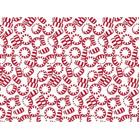 """Pack Of 120, Peppermint Holiday Recycled Christmas Printed Tissue Paper 20"""" X 30"""" Sheets Half Ream Made In Usa"""