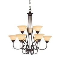 Millennium Lighting 1099 Fulton 9-Light Two Tier Chandelier - Rubbed bronze - n/a
