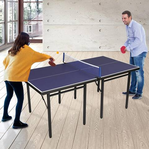 Multipurpose Free Standing Folding Ping Pong Table, with Net