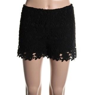 Aqua Womens Crochet Sheer Casual Shorts - M