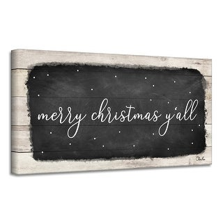 Link to Ready2HangArt 'Merry Christmas Y'all' Holiday Canvas Wall Art by Olivia Rose Similar Items in Christmas Decorations