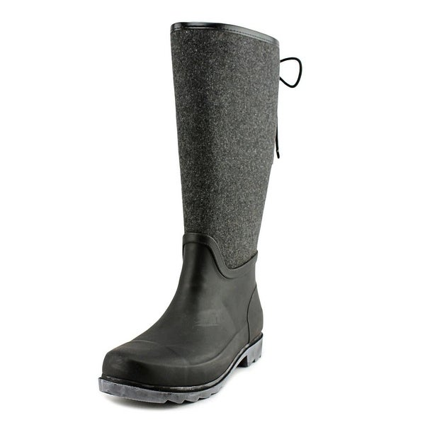 Nine West Oops Women Round Toe Synthetic Gray Rain Boot